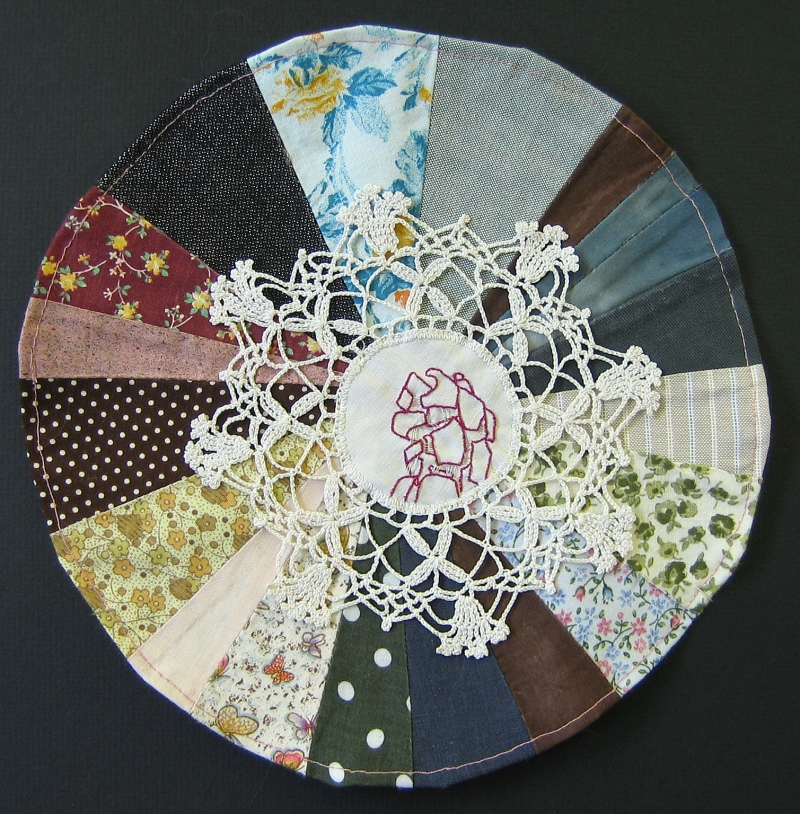 "By Way Of, 2007, 10"" diameter, mixed media"
