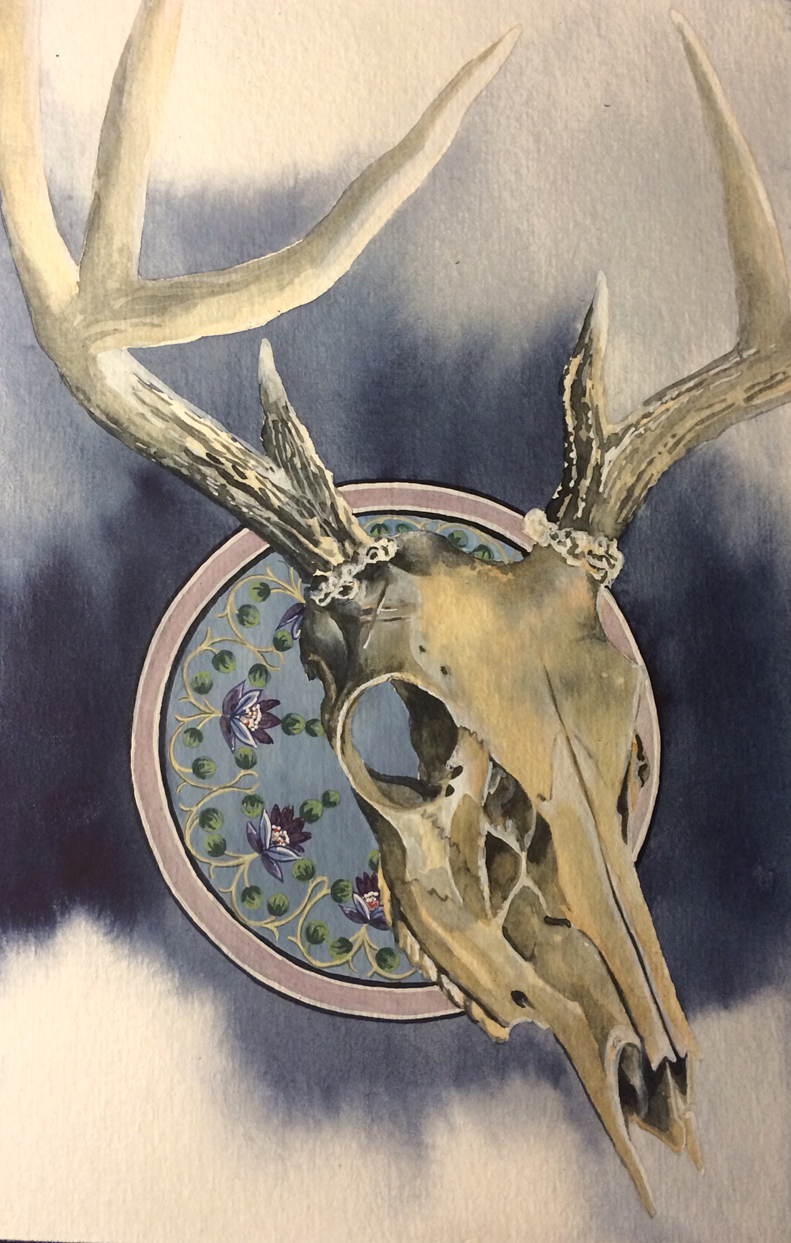 Painting A Deer Skull With Watercolor Amp Daniel Smith Paint