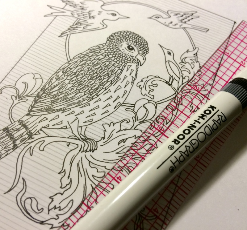 Owl Drawing Pen