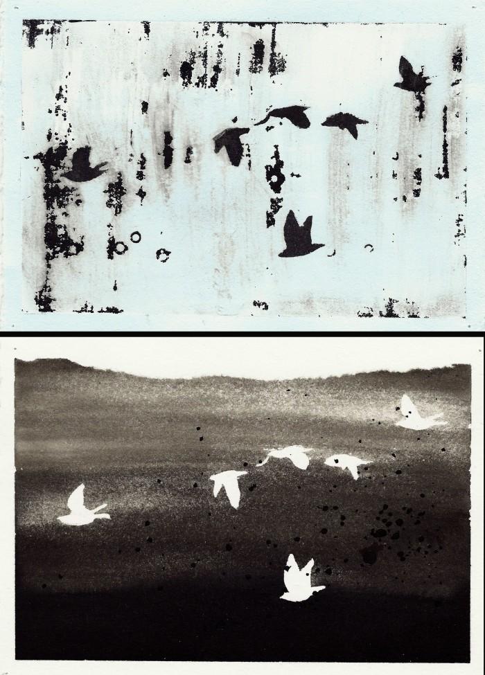 gouache birds 1