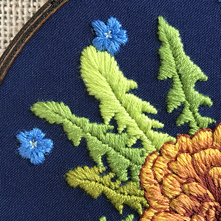 Crythebird(Levacy)-MothersDayMarigolds-Leaves