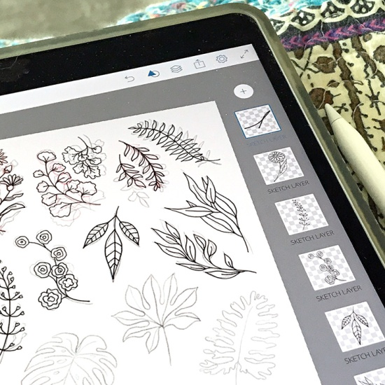 MLevacy(CryTheBird)-BotanicalMotifSketches